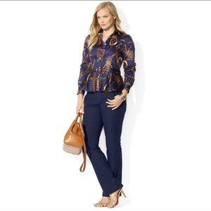 Ralph Lauren Peplum Button Down Shirt Top Size 4P